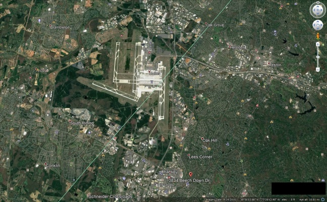 DULLES INTERNATIONAL AIRPORT RIGHT UH OVER THERE DOWN UH THE ROAD FROM WAKA OR BOROUGH OF HIGHLANDS OR SOMETHING