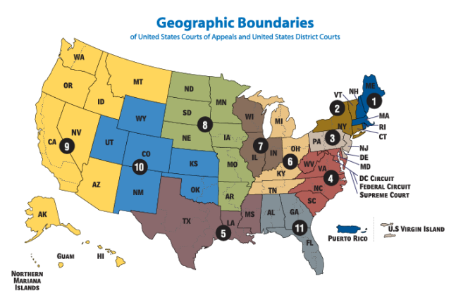 FEDERAL DISTRICT COURTS ENUMERATED COURTESY US COURTS DOT GOV